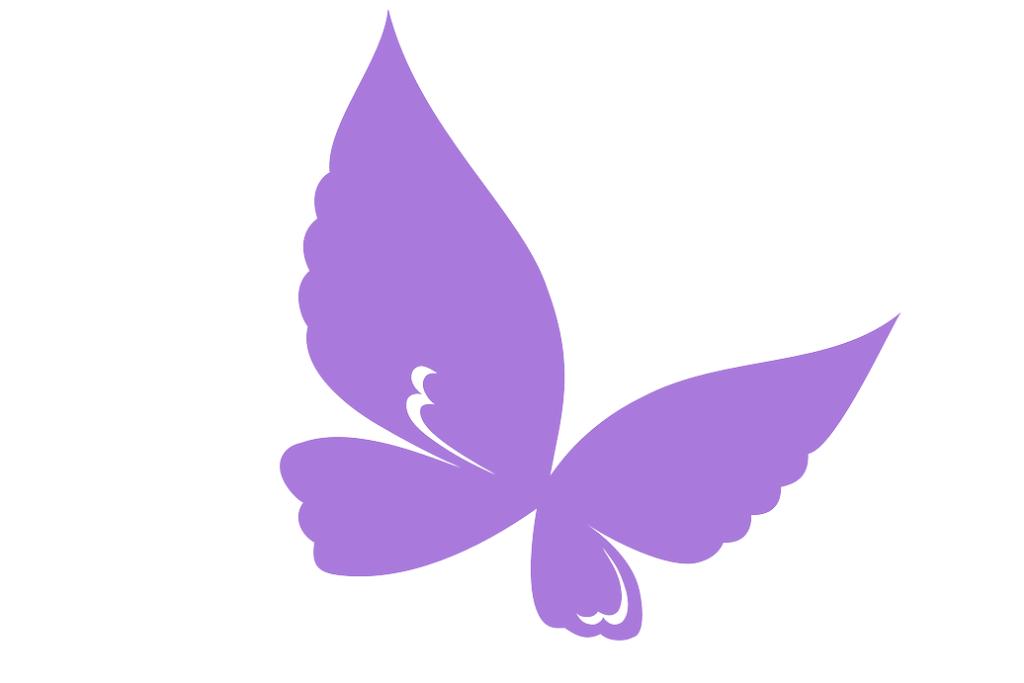 fioletowy motyl
