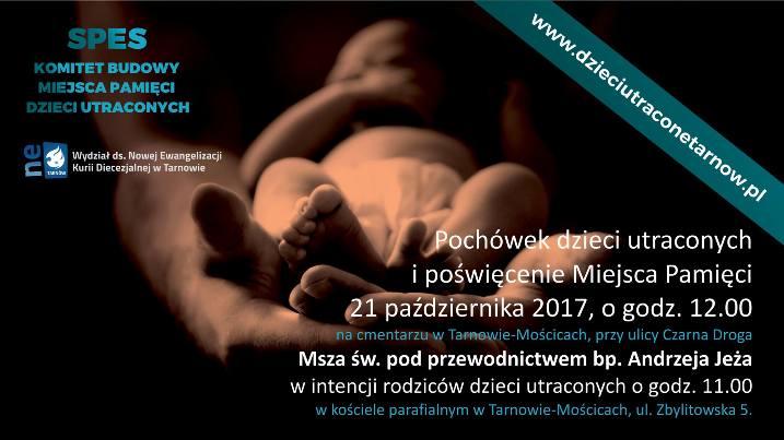 pochówek dzieci martwo urodzonych Tarnów